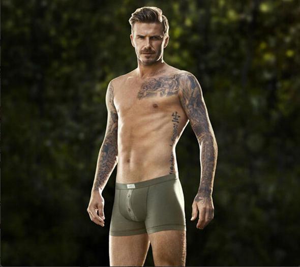 David Beckham Official H&M Photo of his junk