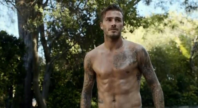 David Beckham's chest and abs looking adorable