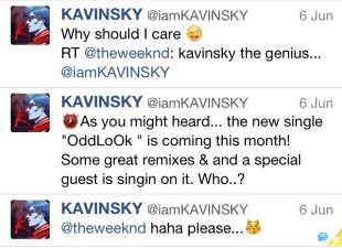 kavinsky and the weeknd tweets