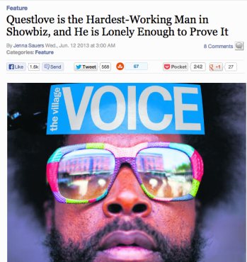 Questlove Village Voice Headline
